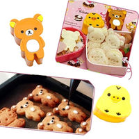 M126  1set Cute Bear Chick Rice Sandwich Bread Mold Cookies Sushi Mould Bento DIY Tool