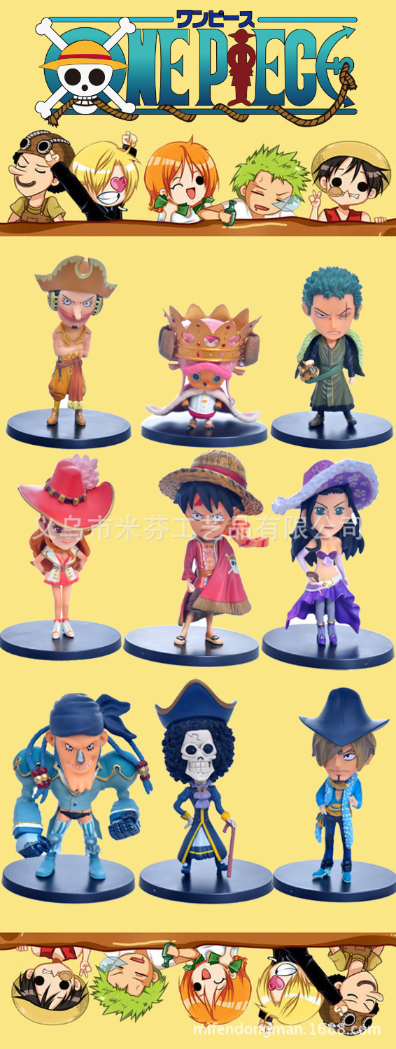 9pcs/set One Piece Sanji Luffy Zoro Robin Chopper Anime Collectible Action Figures PVC Collection toys for christmas gift 1toy холодное сердце
