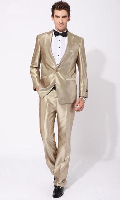 Fashion NEW GOLD Unique design style Men Dress Wedding Banquet Slim ...