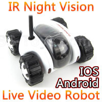 Wifi Control Spy RC Tank Car Controlled By IPhone Android Mobile Phone Live Video Camera Infrared