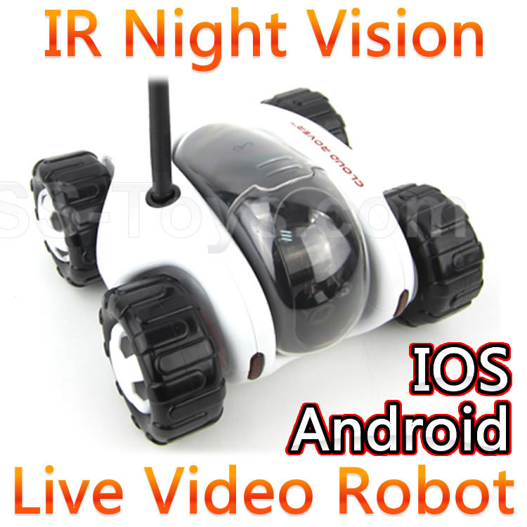 Wifi Control Spy RC Tank Car Controlled By IPhone Android Mobile <font><b>Phone</b></font> Live Video Camera Infrared Ray Night Vision Li-ion FSWB