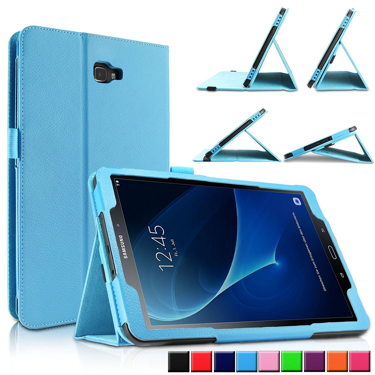 For Samsung Galaxy Tab A6 10.1 inch (2016) T580 T585 Case PU Leather Cover stand Smart case for Samsung Galaxy Tab A6 10.1 Case silk texture horizontal flip leather case for galaxy a6 2018 with holder