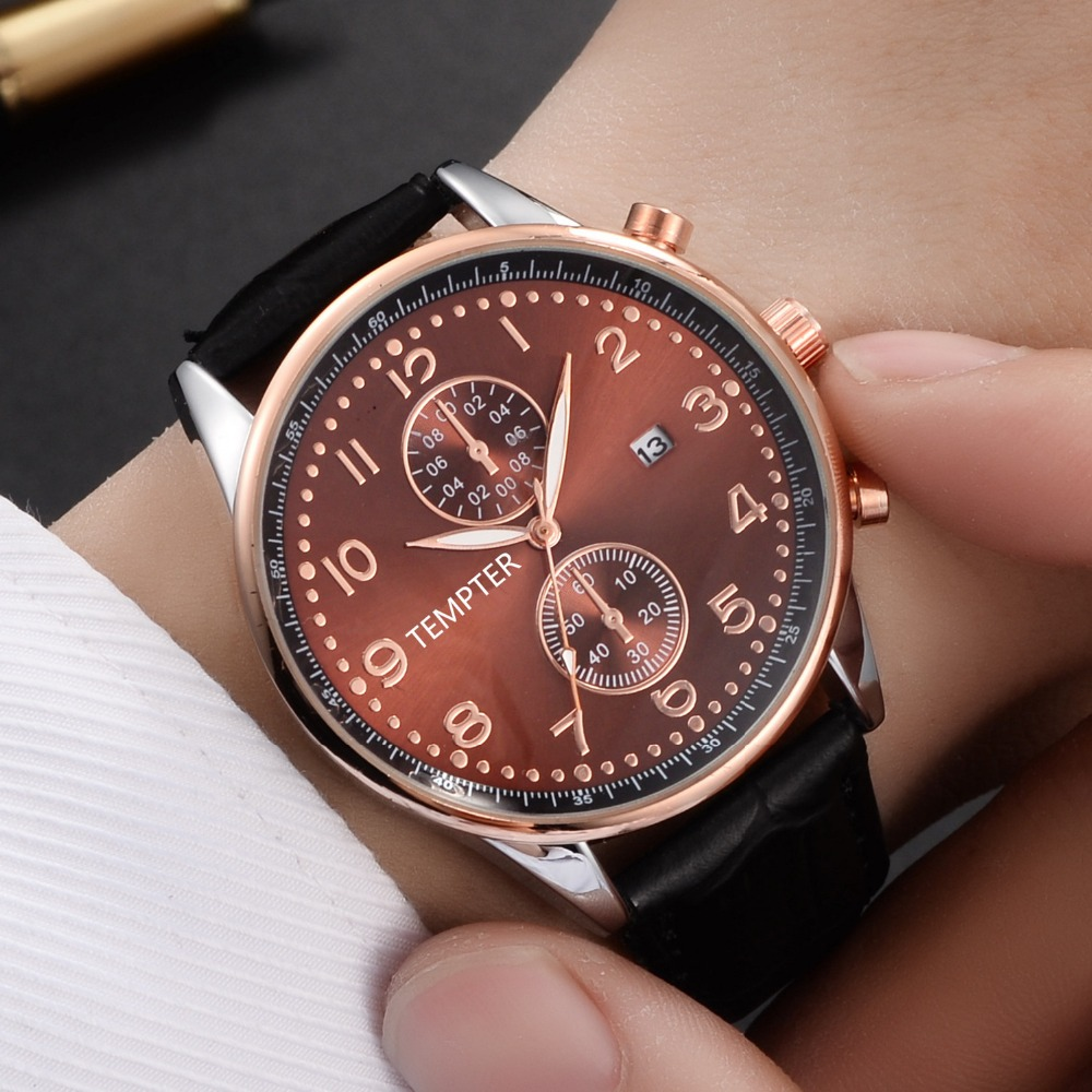 Sport Suit Watches Men Waterproof Leather Band Quartz Wrist Wristwatch Military Clock Male Leather Wrist Watch Relogio Masculino