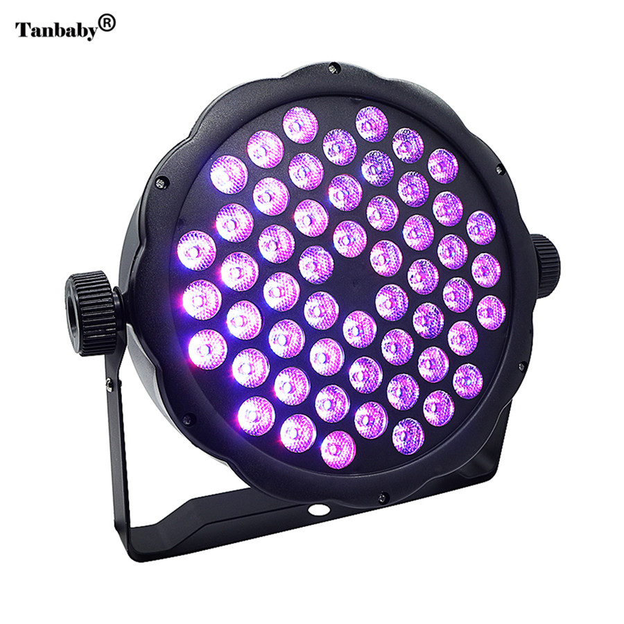 Tanbaby 54X1W LED Stage Light 54W RGB DJ PAR Light DMX 512 Stage Lighting DMX512 Control for Home Disco Club Party Bar mini rgb led party disco club dj light crystal magic ball effect stage lighting