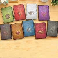 Vintage Notebook Game Of Thrones Cover Retro Diary Planner Notepad Creative Gift Nine Covers