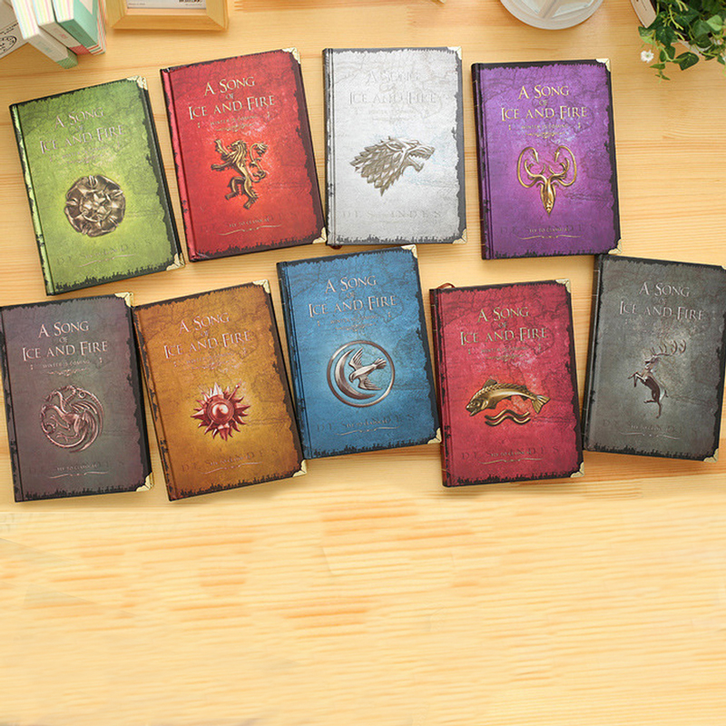 MEIKENG Vintage Notebook Game Of Thrones Cover Retro Diary Planner Notepad Creative Gift Nine Covers game of thrones notebooks vintage hardcover notebook for gift movie a song of ice and fire a5 size nine designs day planner