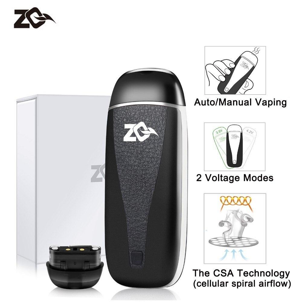 Mini Sigaretta Elettronica ZQ VI Starter Kit MTL Pod Vape 650 mah Sostituibile Cartdrige Sistema di 2 ml Vaporizzatore 1.4ohm Nic sale Bobina