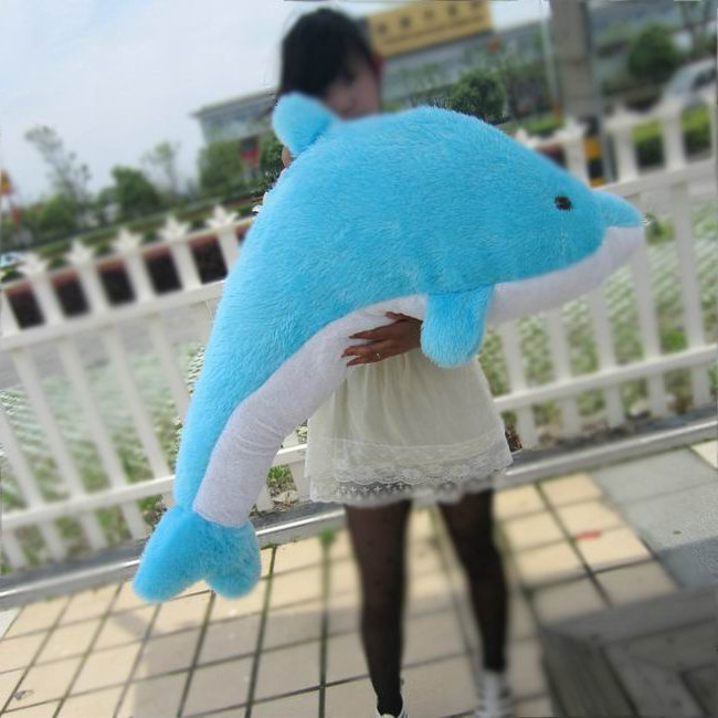ФОТО big lovely plush toy the dolphin toy stuffed dolphin pillow large birthday gift toy about 140cm