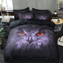 Nordic owl in the moon cartoon style bedding set duvet/doona cover bed sheet pillow cases/king/queen/double/full/twin size