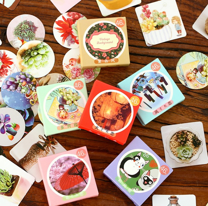 46pcs/Pack Kawaii Totoro Snow Man Decorative Paper Stickers DIY Craft Phone Dairy Adhesive Stickers Stick Label