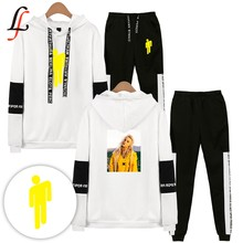 Billieeilish billie eilish 2 Piece Set Women Hip Hop Hoodies Sweatshirts Women/men Fashion Cool Hooded Casual Sport Suit(China)