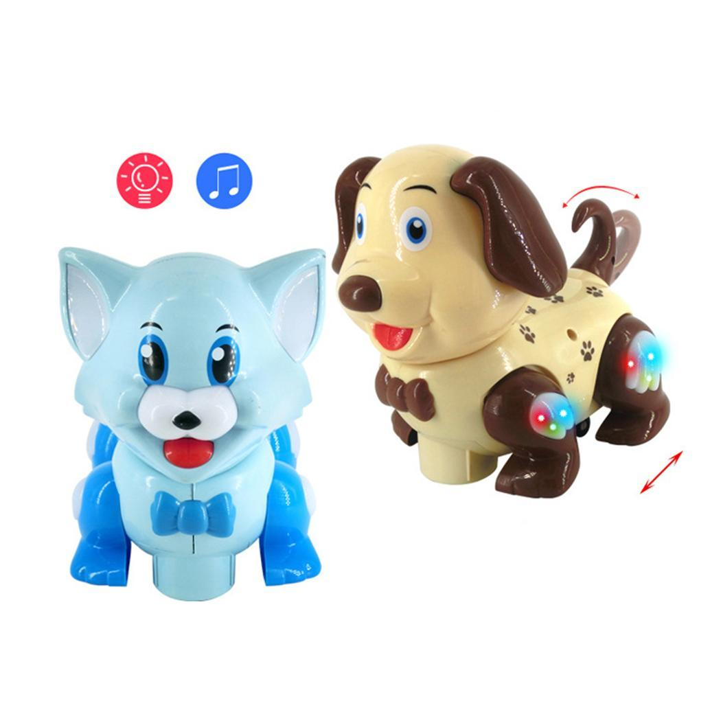 Electric Intelligent Dog Cat With Music Lights Cartoon 0-6 Years Old Moving Pet Shaking Children Toy 1 Pet