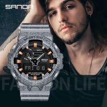Erkekler su geçirmez çift ekranlı Analog dijital LED elektronik bilek saatler смарт часы мужские dijital erkek kol saati