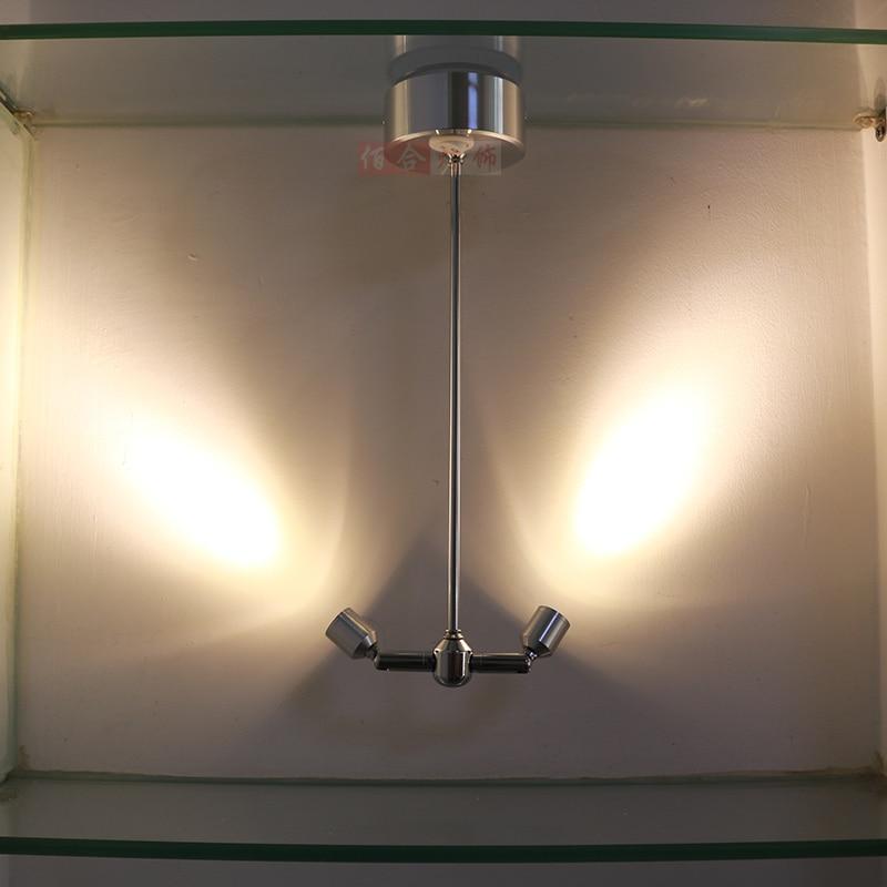 Лампа для зарядки батареи, двойной светодиодный светильник, беспроводной дисплей, шкаф, ювелирный шкаф, лампа с блоком питания, потолочные с
