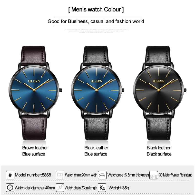 OLEVS Relojes minimalistas de primeras marcas Relojes de lujo simples - Relojes para hombres - foto 5