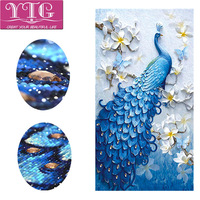 Special Shaped Diamond Embroidery Peacock Animal Diamond Painting Flower Full Rhinestone Diamond Mosaic Cross Stitch Decor