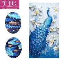 Special Shaped Diamond Embroidery Peacock Animal Diamond Painting Flower Full Rhinestone Diamond Mosaic Cross Stitch Decor