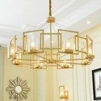 Современный европейский стиль креативная Мода Золотой медный подвесной светильник ресторан спальня гостиная/офис украшение лампа бесплат