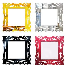 1PCS  Switch Sticker Home Decor Wall Stickers decor living room Mirror Style Photo Frame For Shop Decoration
