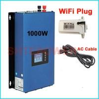 MPPT 1000W Solar grid tie inverter battery discharge Working Mode 1KW DC 24V 48V to AC 110V 220V wifi plug and limiter sensor