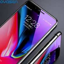 купить Anti Blue Light Tempered Glass For iPhone X XR XS Max 8 7 6S 6 Plus 5 5S SE Explosion-proof Screen Protector For iPhone X XS Max дешево