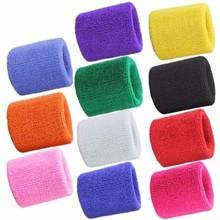 2PCS Colorful Cotton Unisex Sport Sweatband Wristband Wrist Protector Running Badminton Basketball Brace Terry Cloth Sweat Band