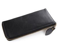 Maxdo Black Color 100 Guarantee Real Genuine Leather Long Size Man Purse Cow Leather Men Clutch