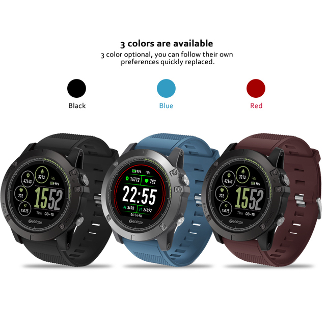New Zeblaze VIBE 3 HR IPS Color Display Sports Smartwatch Heart Rate Monitor IP67 Waterproof Smart Watch Men For IOS & Android 5