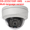 Multi-language version DS-2CD2155F-IWS 5MP WDR Fixed Dome Network Camera Support H.265,POE,IP67,IR 30M,Audio,Wifi