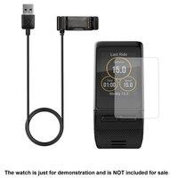 Della Protezione Dello schermo Film + Cavo di Ricarica USB Caricabatterie Cavi Per Garmin Vivoactive HR Smart Guarda Accessori