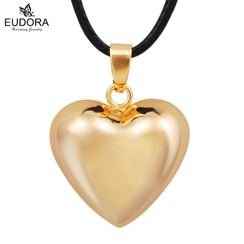 Gold Heart Harmony Bola Chime Ball Pendant Bola Recaller Of The Angels Mexico Baby Custom Jewelry Angel Caller Long Necklace