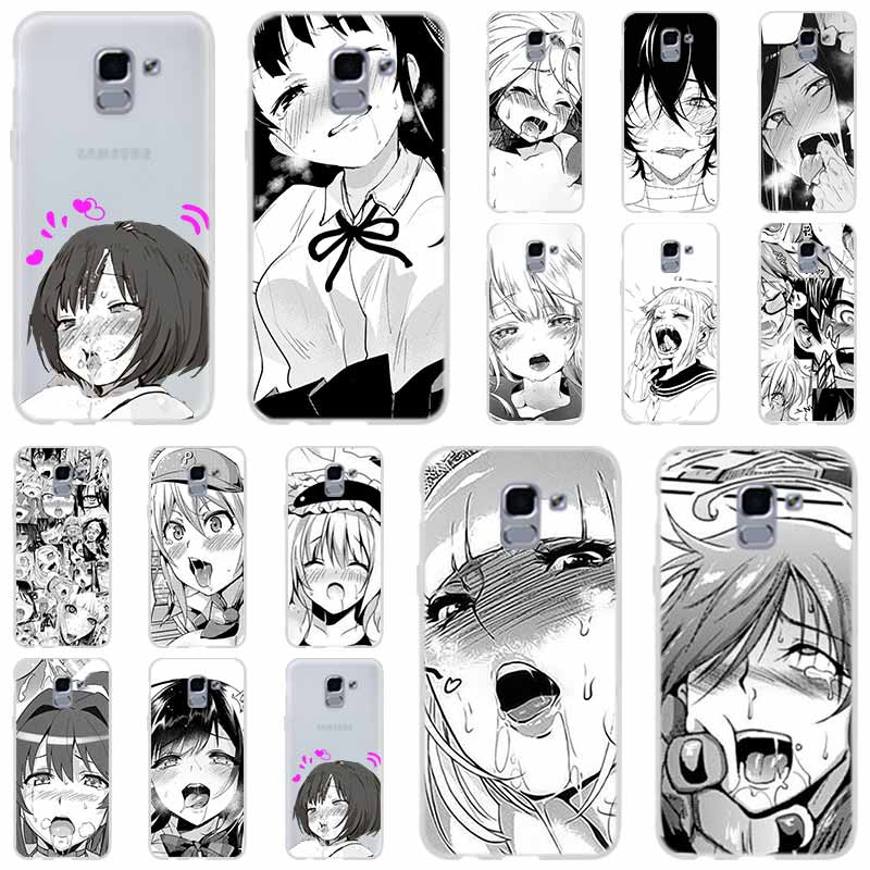 Anime girl cartoon japan For Phone Case Samsung Galaxy j6 J8 J7 J5 J3 J4 Plus 2018 2017 2016 J610 Prime Soft Silicone Coque image