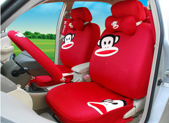 18pcsThe New Fashion Cartoon Monkey Car Seat Cover Cute Girls