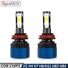 Get more info on the BraveWay S2 H7 LED Lamp for Car H4 H11 HB3 HB4 9005 9006 H1 LED Headlamp 6500K 12V Car Headlight Bulbs LED HB3 HB4 H4 Fog light