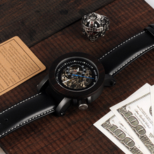 WK10 Ebony Wood Montre Homme Relogio