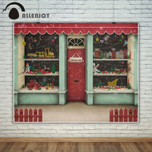 Allenjoy photography backdrop christmas shop snow wither toys gifts background for photo studio new design camera fotografica allenjoy photography backdrop christmas books elven house socks shoes snow background photo studio new design camera fotografica