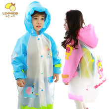 Student Raincoat Baby Children Cartoon Kids Girls boys rainproof Rain Coat Waterproof Poncho Rainwear Waterproof Rainsuit
