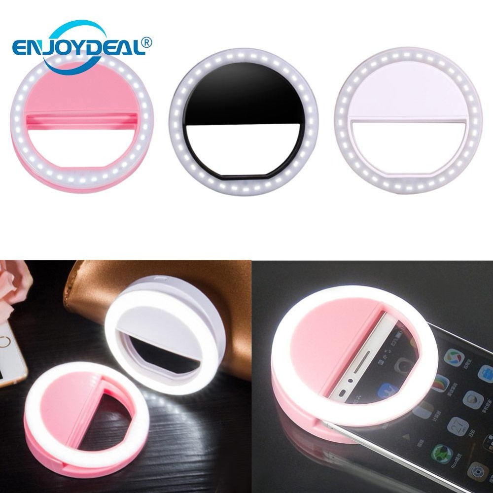2019 Super Bright 36 LED Selfie Ring Light Night Darkness Selfie Enhancing Photography Flash Ring Light Smartphone Novelty Light