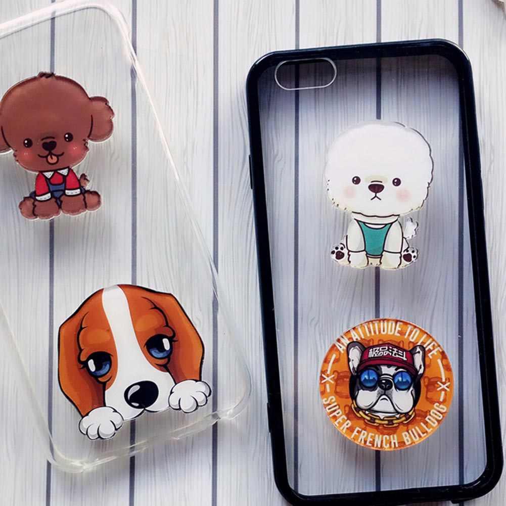 Мультфильм милые Броши очарование домашних собак подвеска значок Украшенные булавки телефон оболочки пасты двойного назначения играть роль мужчин и женщин подарок