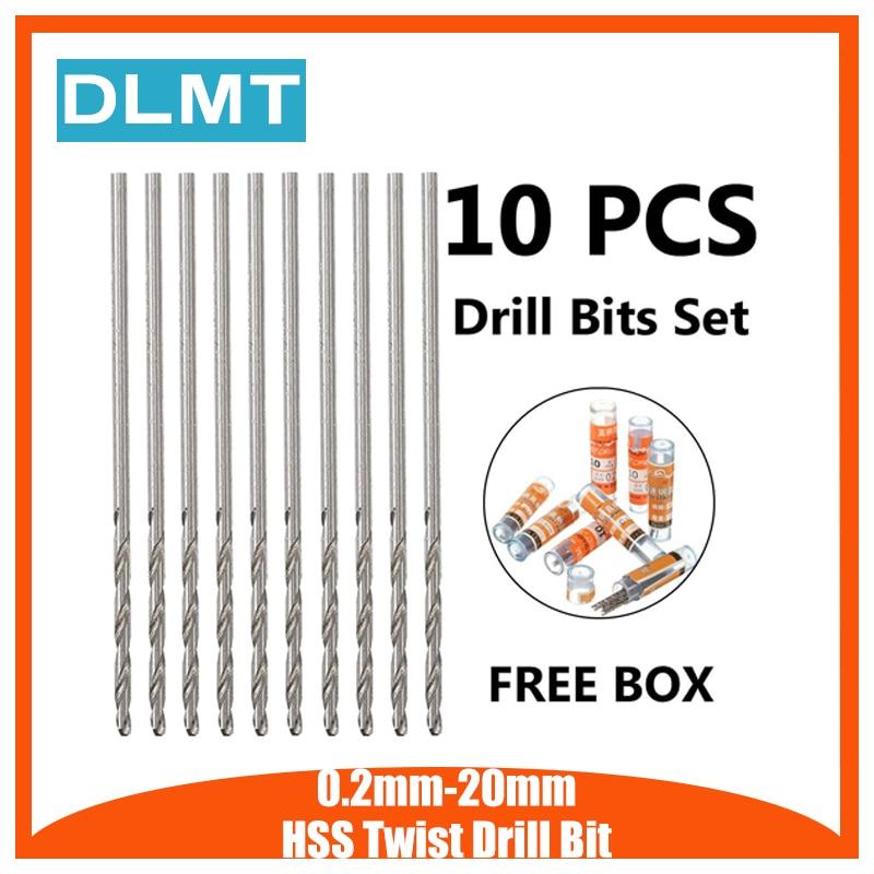 0.2mm-20mm HSS Twist Drill Bit Micro Wear Resistance Straight Shank Twist  HSS High Speed Steel Metric Drill Bits