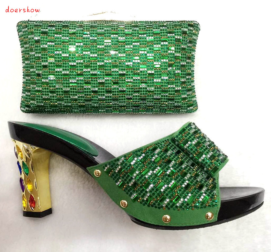 doershow African Shoes and Bag To Match High Quality Italian Shoe and Bag Set Nigerian Party Shoe and Bag Set Wedding  TYS1-22 fashion italy design italian matching shoe and bag set african wedding shoe and bag sets women shoe and bag to match tmm1 41