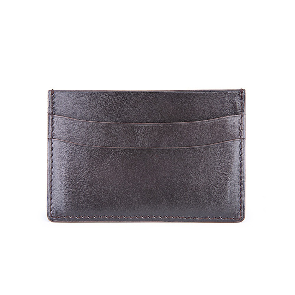 ФОТО TERSE_7 Colors in stock handmade leather short card holder men business card wallet genuine leather wholesale price