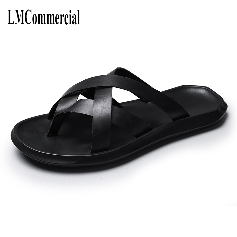 Rome mens Sandals summer flip-flops Sneakers Men Slippers casual Shoes beach outdoor anti-skid Leisure shoes male cowhide