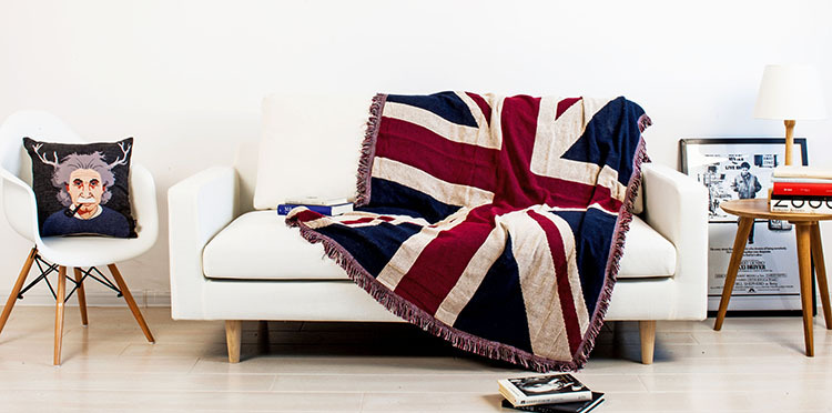 Tels Union Jack Star Spangled Banner Soft Sofa Blanket Throws Rugs Cover Chair Table Home Decor