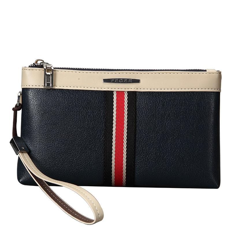PU Leather Clutch Bag Men Purse Cash Wallet Phone bag Fashion Wallet Male Multifunctional Zipper Card Holder Wallets FEGER