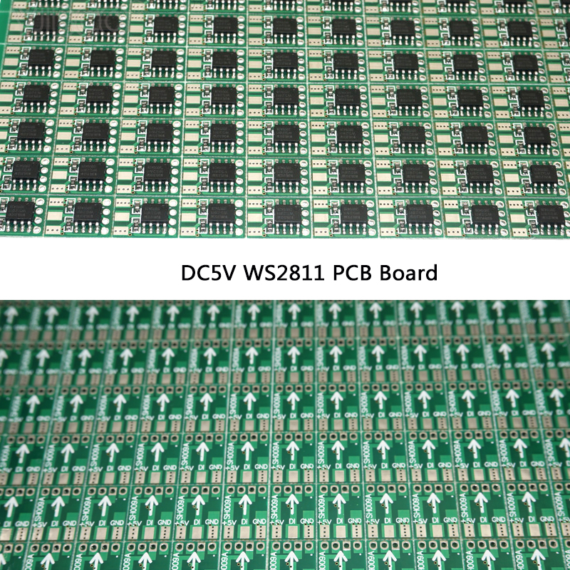 Free shipping 100pcs DC5V WS2811 Circuit Board PCB Square Making WS2811 LED Pixel Module IC Chip Light Lighting tape ribbon cyan soil bay 240 led super blue car harzard beacon emergency magnetic strobe flash light bar top roof warning lamp