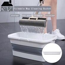 Складывающийся силиконовый швабра ведро для кемпинга ведро для мытья с ручкой складной пол Швабра для уборки рыболовное ведро для мойки автомобилей бытовой инструмент