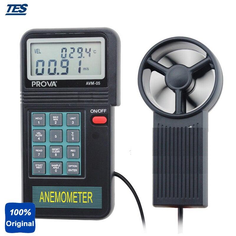 Thermomètre anémomètre testeur de vitesse du vent jauge de vent AVM05