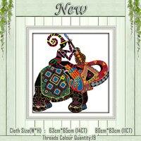 全国象動物diyの装飾絵画カウントに印刷キャンバスdmcカウント11ctクロスステッチは、刺繍キット