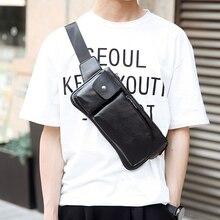 Tidog Korea Pria Ransel Korteks dari Kenyamanan dan Fashion Tas Dada